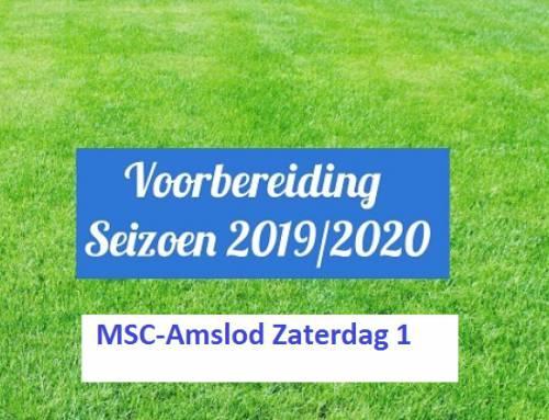 Start voorbereiding en oefenprogramma MSC-Amslod Zaterdag 1