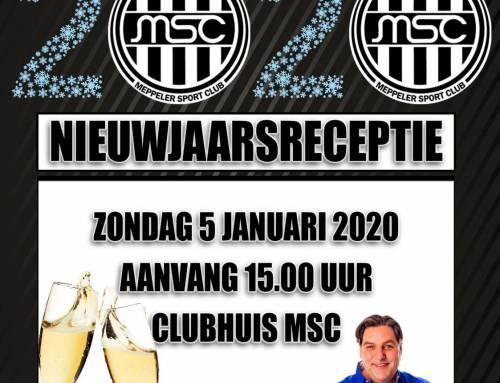 Nieuwjaarsreceptie MSC-Amslod op zondag 5 januari 2020