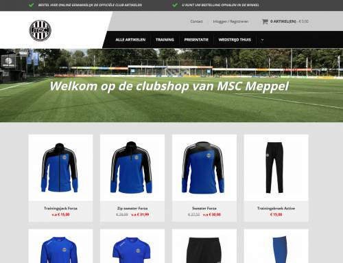 Bezoek de nieuwe MSC Webshop